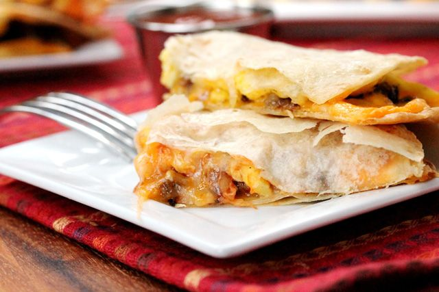 19-crispy-breakfast-quesadilla | Breakfast | Pinterest
