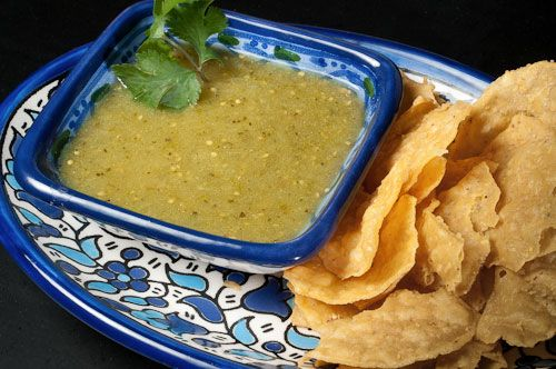 Homemade Salsa Verde....the brother to my awesome pico.....i shall ...