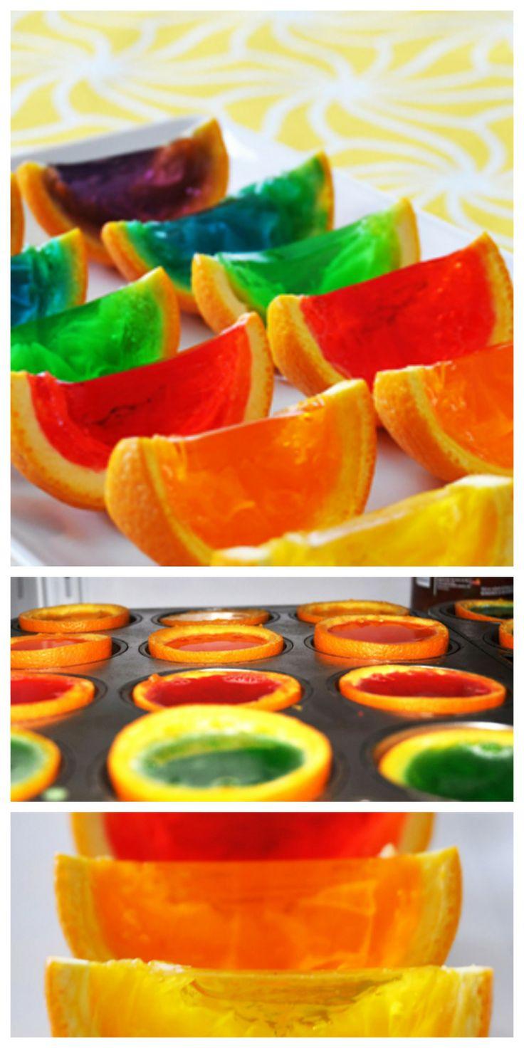 Rainbow Gelatin Orange Wedges   Recipe