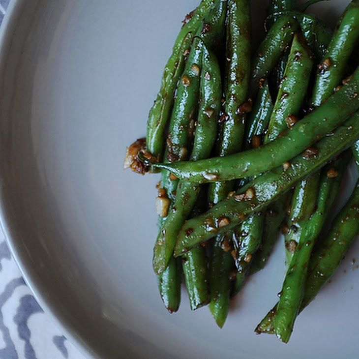 Asian Garlic Green Beans! They turned out really yummy with the sweet ...