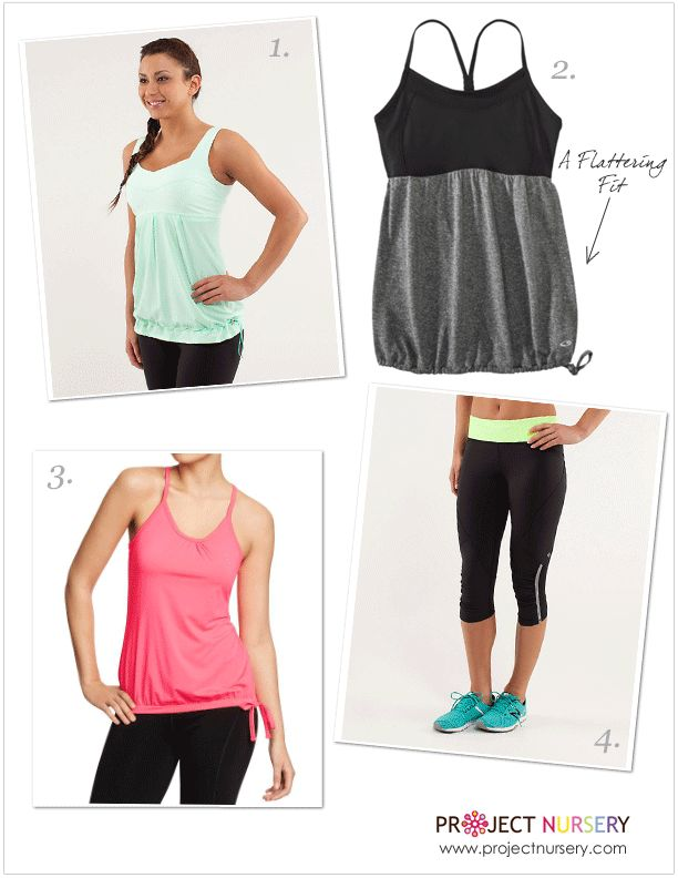 Project Nursery picks flattering workout clothes for the post-partum body!