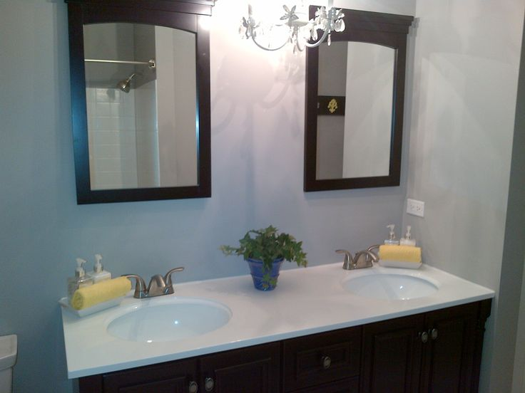 our new greyyellow and black bathroom