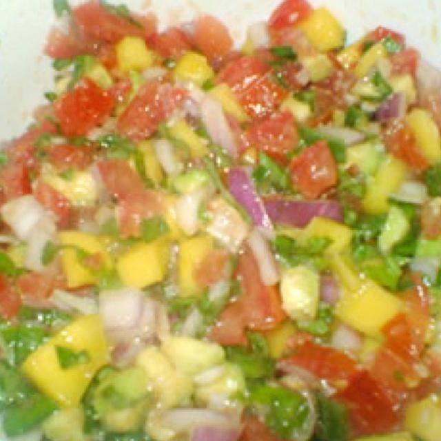 Avocado Mango Salsa | Eat, drink & be merry. | Pinterest