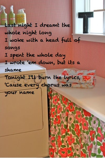 "Laundry Room"" by the Avett Brothers 