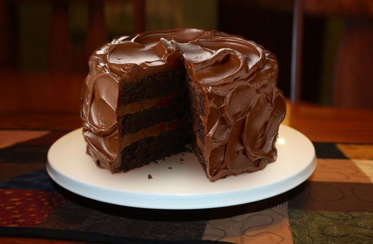 ... for more with Rick's super rich, super creamy chocolate frosting
