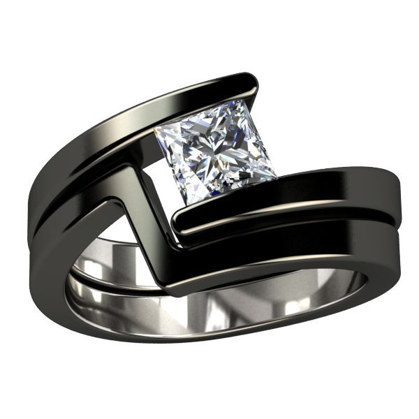 Wedding Ring Black Titanium Black Titanium Engagement Ring Something Borrowed