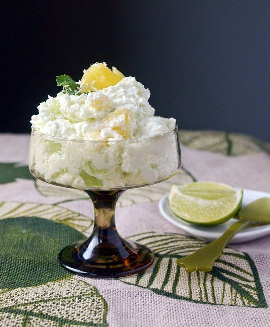 lime jell o salad recipe for grown ups fresh lime amp pineapple fluff ...