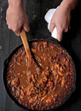 Crawfish Gravy -- a wonderful dark nutty roux is the base for a ...