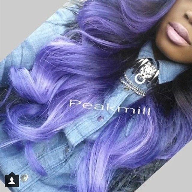 @peakmilll rocking our virgin Peruvian Straight hair! Www.hassadityhair.com