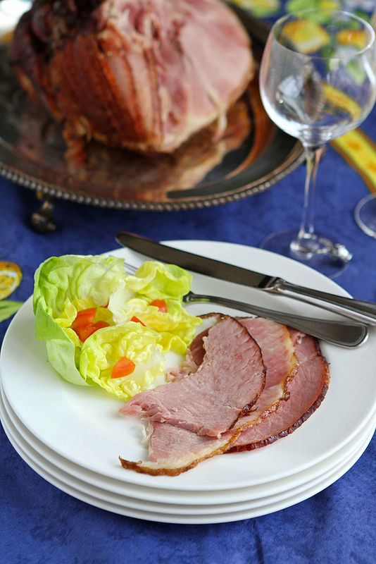 Old-Fashioned Ham With Brown Sugar And Mustard Glaze ...