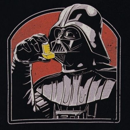 The solution to Darth's breathing problems. #StarWars