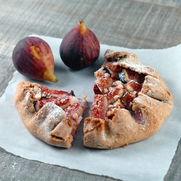 Fig Galette with honey and cream cheese. I'm going to substitute with ...