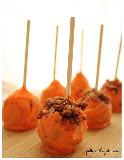 Pumpkin Pie Pops! | Cake/icing recipe | Pinterest