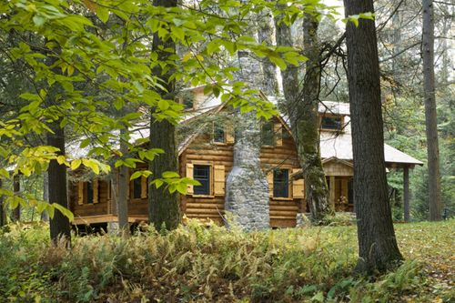 Log Cabin In The Woods Home Pinterest