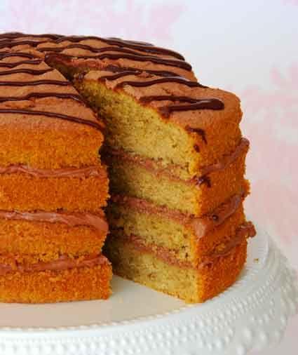 Layered Coffee cake | Coffee Cakes, Scones, Pound Cakes | Pinterest
