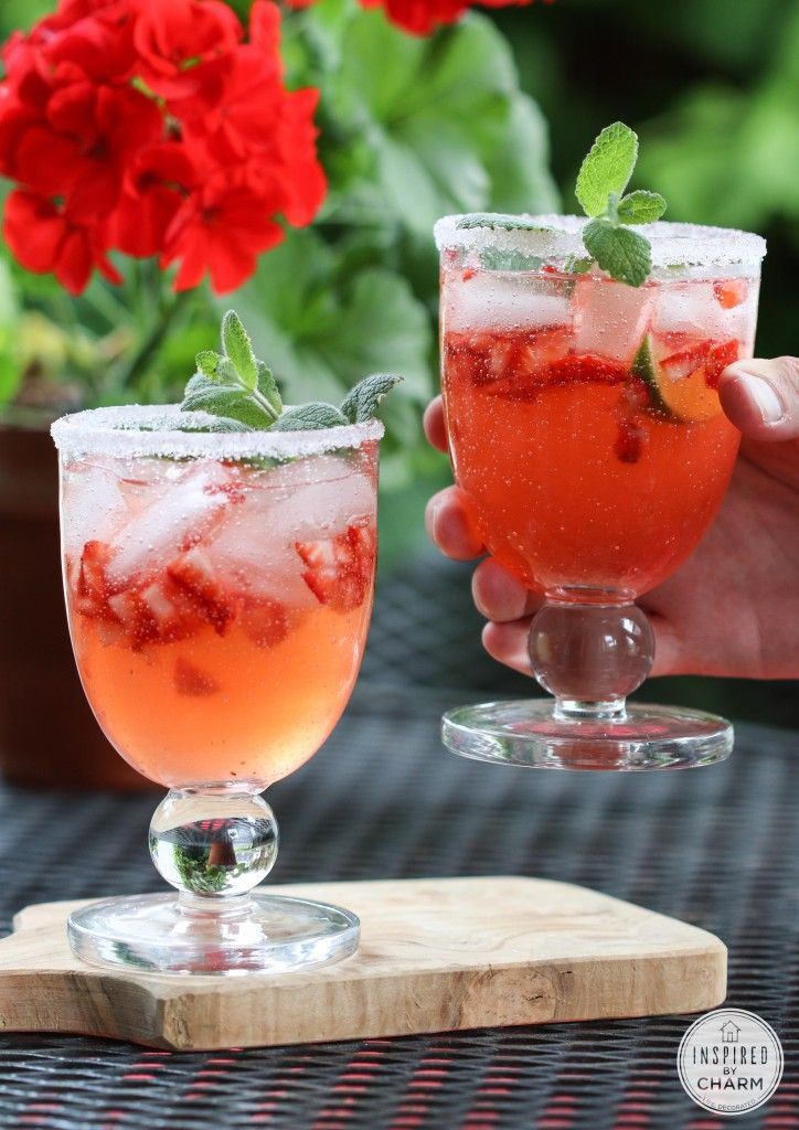 Strawberry Rhubarb Margarita | Beverages | Pinterest