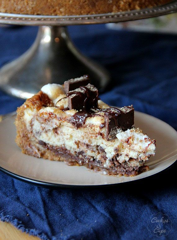 mores Cheesecake | www.cookiesandcups.com #cheesecake #smores # ...