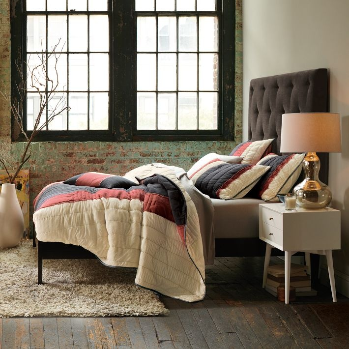 Patchwork bed via @westelm. http://www.westelm.com/products/valley-quilt-shams-t385/?pkey=cpieced-patched