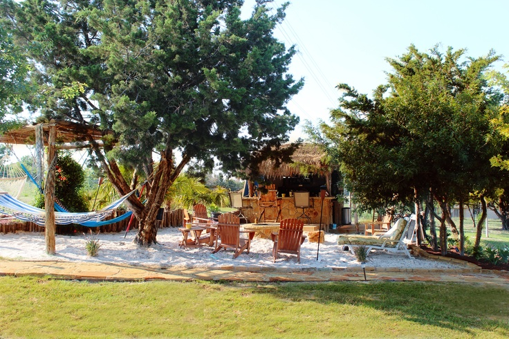 backyard beach tiki hut bar hammocks my parents beach house at