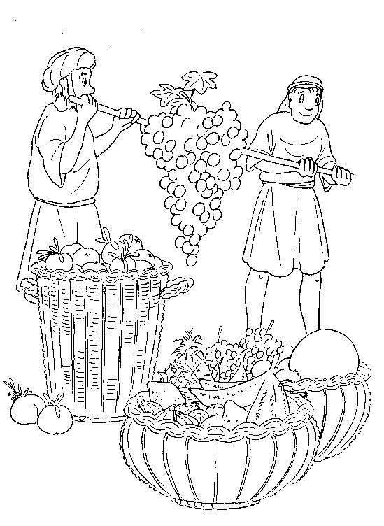 oshua bible coloring pages - photo#22