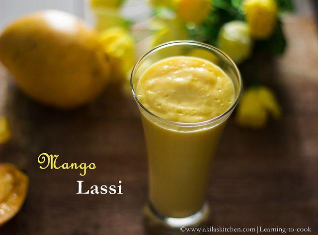 Mango Lassi - a delicious yogurt drink | akilaskitchen | Pinterest