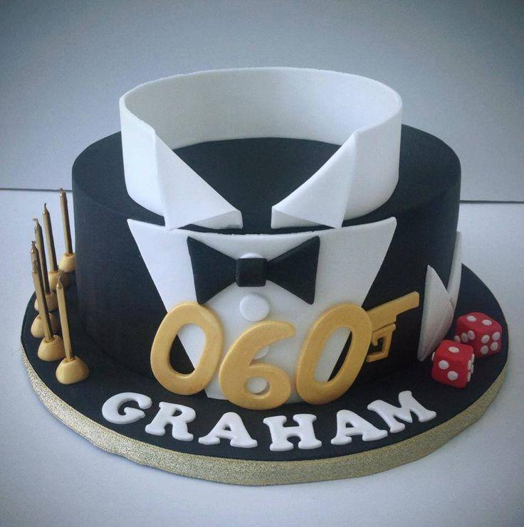 James Bond Cake My Sweet Little Bakery Pinterest James - Birthday cake for a guy