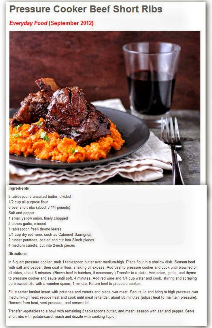 Pressure Cooker Cola-Braised Beef Short Ribs Recipe — Dishmaps