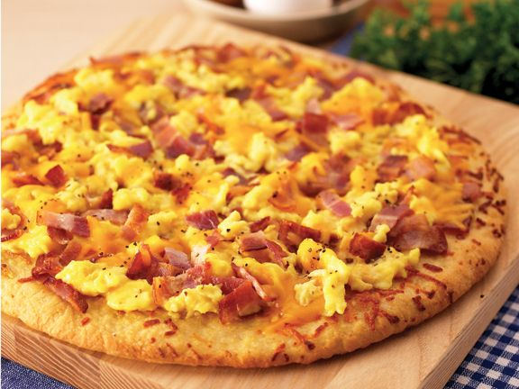 Bacon and Eggs | Boboli Pizza Recipes | Are You Hungry? | Pinterest