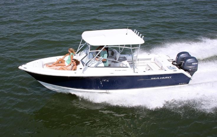 Sea Hunt Escape 250 >> Escape 250.....twin engine power.   Sea Hunt Boats   Pinterest