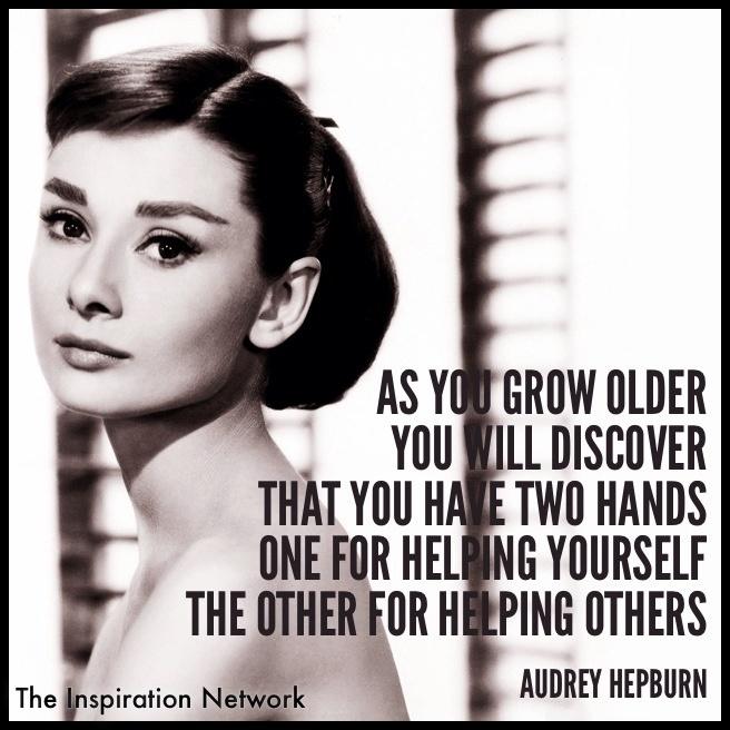 As You Grow Older Audrey Hepburn Two Hands