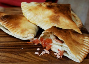 Smoked Salmon and Mozzarella Calzone | Recipe