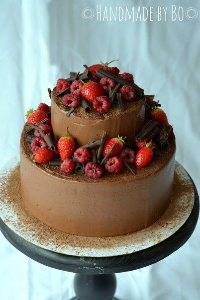 Yummy chocolate berry cake by Olya Bo | Beautiful cake ideas | Pinter ...: pinterest.com/pin/152700243589676789