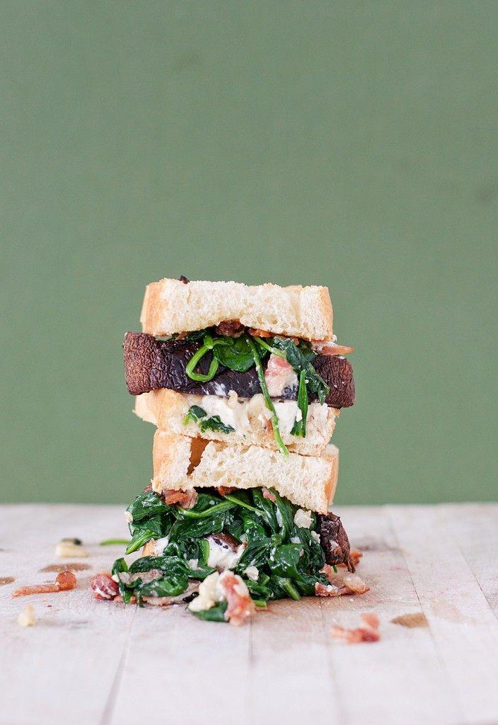 goat cheese portobello mushroom sandwich // portobello mushroom, goat ...