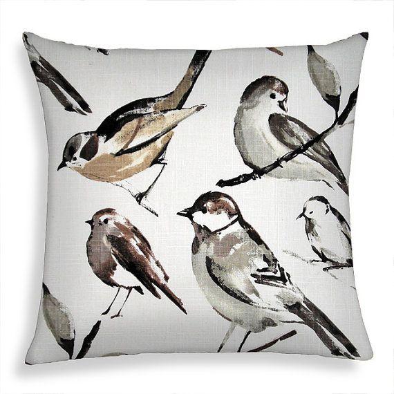 Decorative Throw Pillow 18x18 / 20x20 Richloom Birdwatcher Decor Pill?