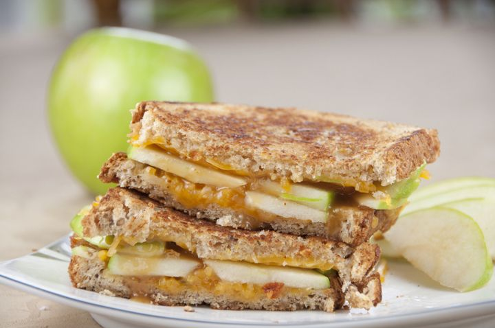Caramel Apple Grilled Cheese Sandwich for National Grilled Cheese ...