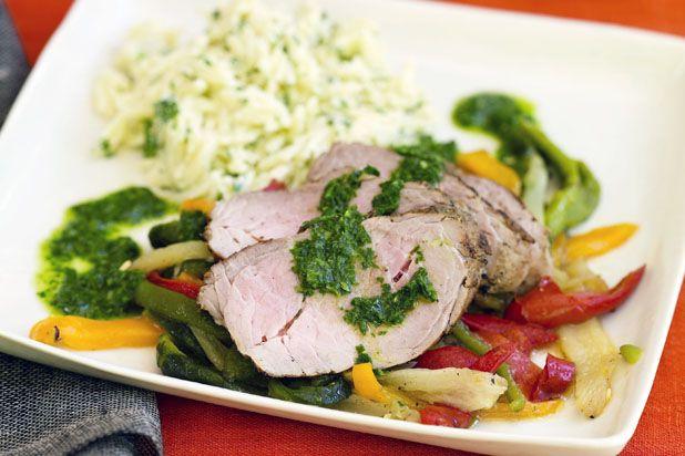Cumin-Crusted Grilled Pork Tenderloin with Salsa Verde Recipe