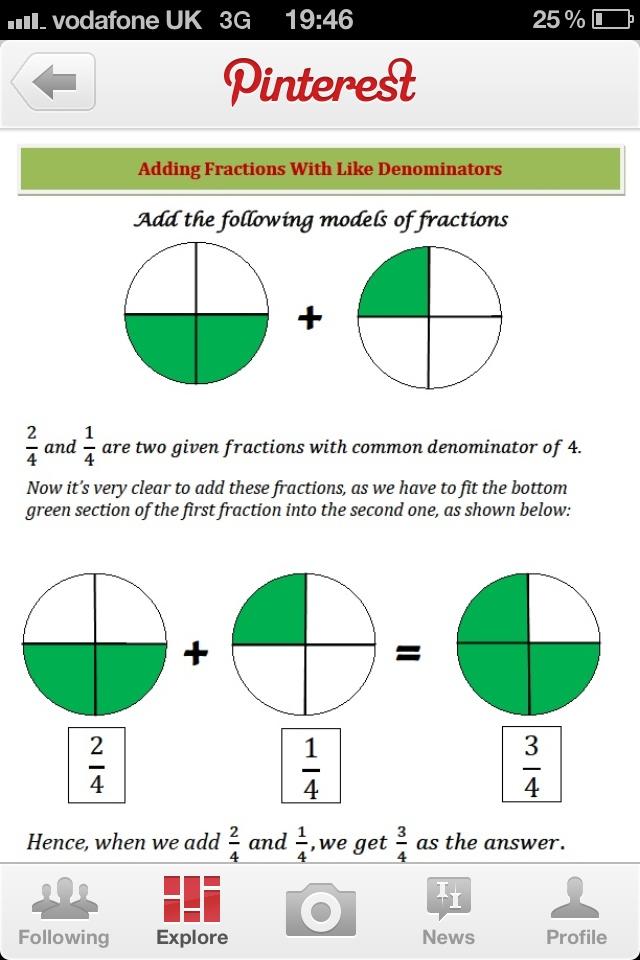 fractions | school stuff | Pinterest