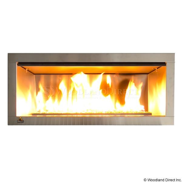 Outdoor ventless fireplace garden pinterest for Ventless modern fireplace