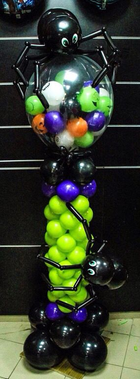 1000 ideas about balloon centerpieces on pinterest for Balloon decoration for halloween