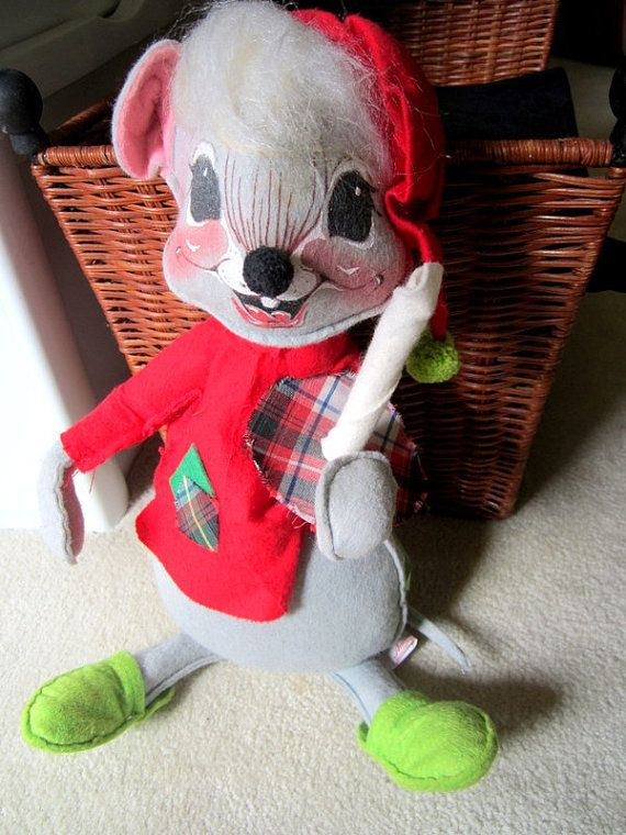 Vintage Annalee Mouse Doll with Candle  by JewelsOfHighElegance, $22.50