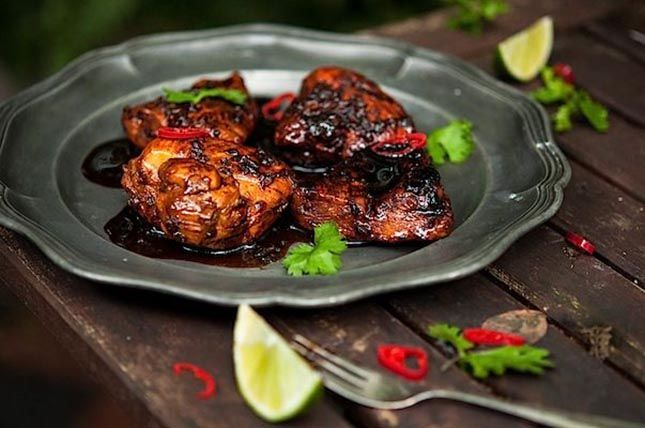 Honey Mint Glazed Chicken | OOH LA LA | Pinterest