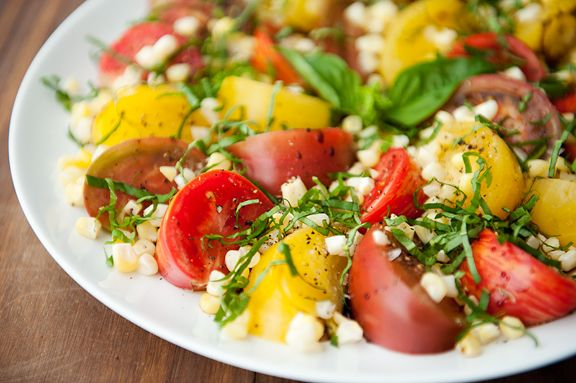 Heirloom Tomato and Corn Salad Recipe by Use Real Butter http ...