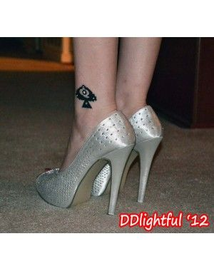 Queen of Spades Crystal Tattoos