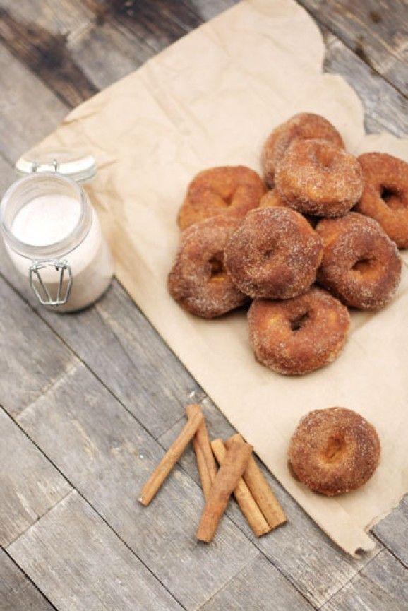 Baked Pumpkin Maple Doughnuts | Cooking | Pinterest