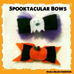 Easy felt Halloween bows. | Craft Ideas | Pinterest