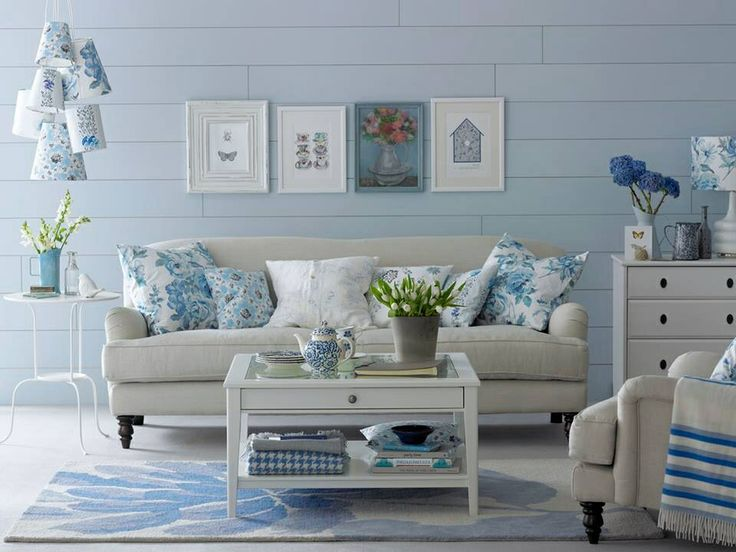 White and baby blue living room alice in wonderland room - White and blue living room ...