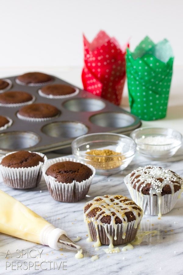 Easy Gingerbread Muffins with White Chocolate Glaze @ A Spicy ...