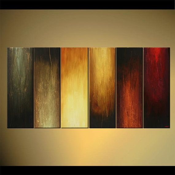 multi panel abstract painting original wall decor painting on canvas