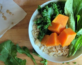 cupcakes and kale: baby inspired eats: sweet potato & greens bowl with ...