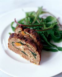 Meat Loaf Stuffed with Prosciutto and Spinach // More Meat Loaf Recipes: http://fandw.me/FGV
